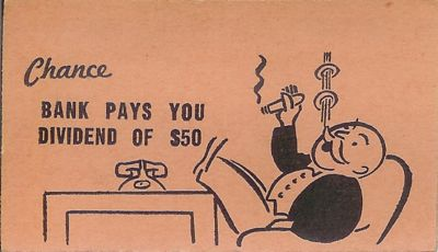 Chance: Bank pays you a dividend joke image